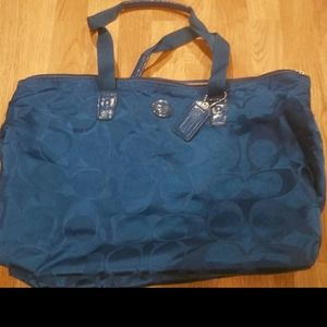 Coach travel bag blue tote